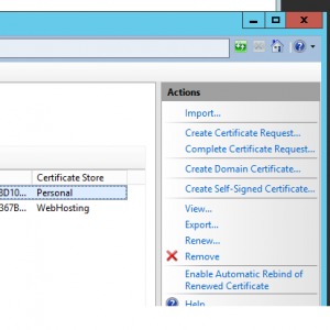The IIS import Link on the client machine or server