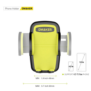 omaker universal-car-phone-mount adjusts and resizes