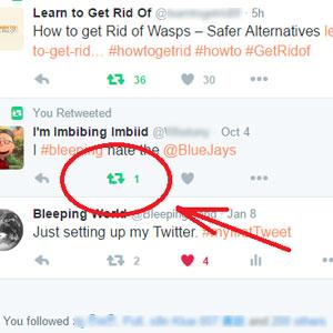 delete a retweet on Twitter by bleeping world