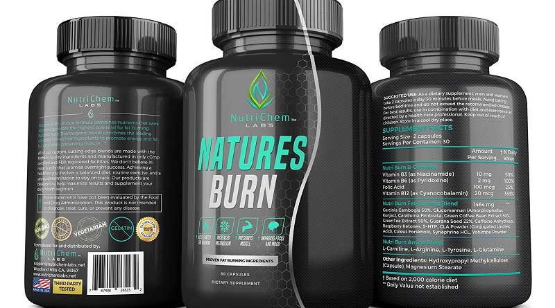 NutriChem Labs NATURES BURN pills burn fat and flab