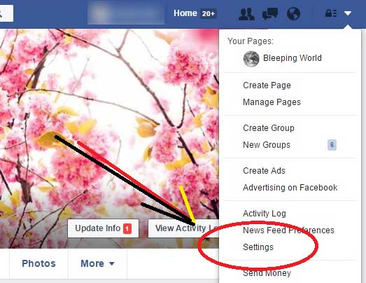 Set Facebook Privacy profile block google search Index settings