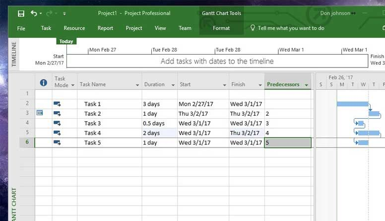 how to set date format in microsoft project