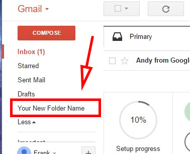 how to set up folders in gmail account