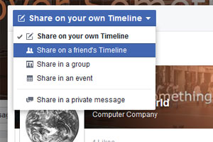 this is how people share a page with you on facebook