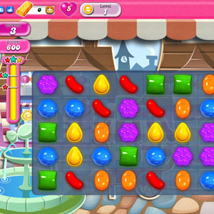Candy crush is a game that alot of people like to play on facebook