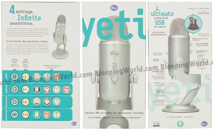 Blue yeti microphone instructions on box