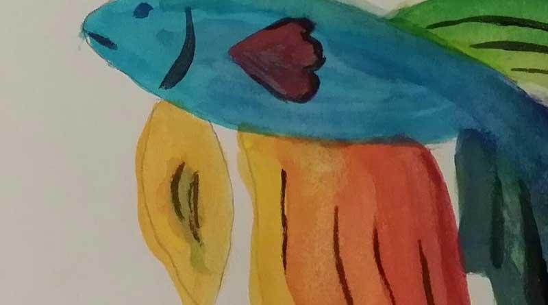 guppy fish swimming vertically bleepingworld