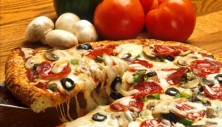 Comfort foods are natural remedies for depression and include pizza