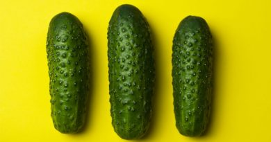 Cucumbers covered in wax