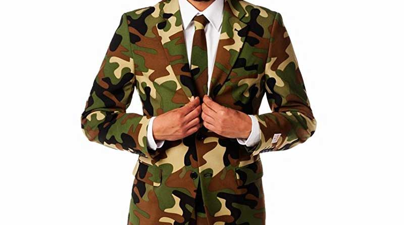 Men's Commando Party Costume Suit