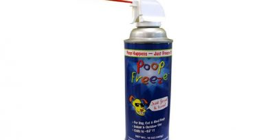 Poop freeze spray