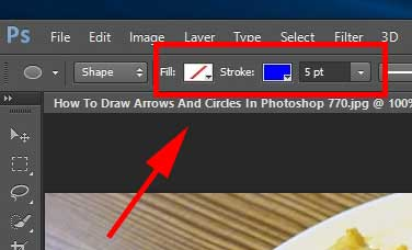 How To Draw Arrows And Circles In Photoshop
