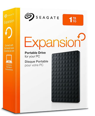 1TB Portable External Hard Drive Box Seagate Expansion