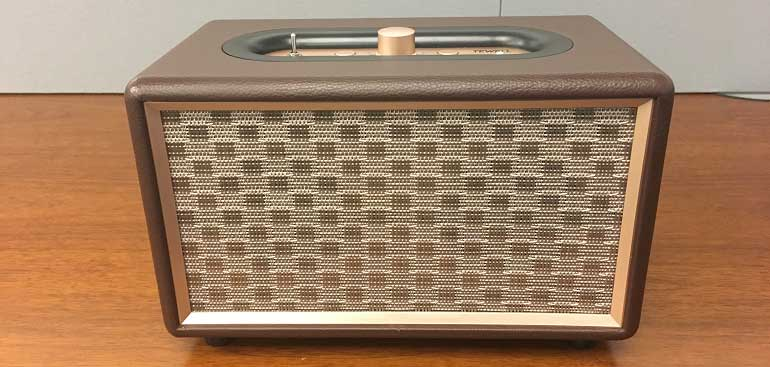 TEWELL Retro Go Wireless Bluetooth Speaker front mesh